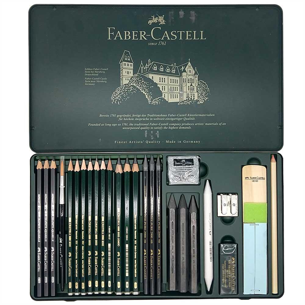 Estojo Metálico Faber Castell Lapis Grafite 26 peças
