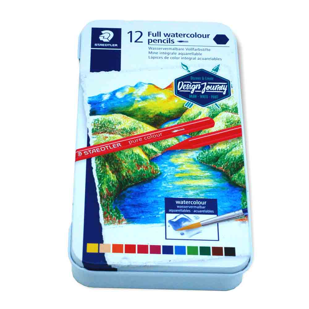 Estojo Metálico Lápis Aquarelável 12 cores - Staedtler