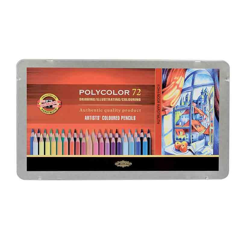 Estojo Metálico Lápis de cor 72 Cores Mod.3827 Polycolor