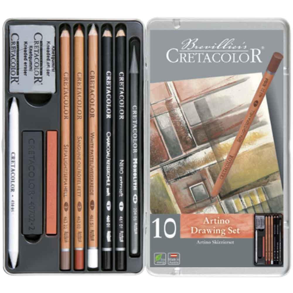 Estojo para desenho 10 peças Artino 400 20 - Cretacolor