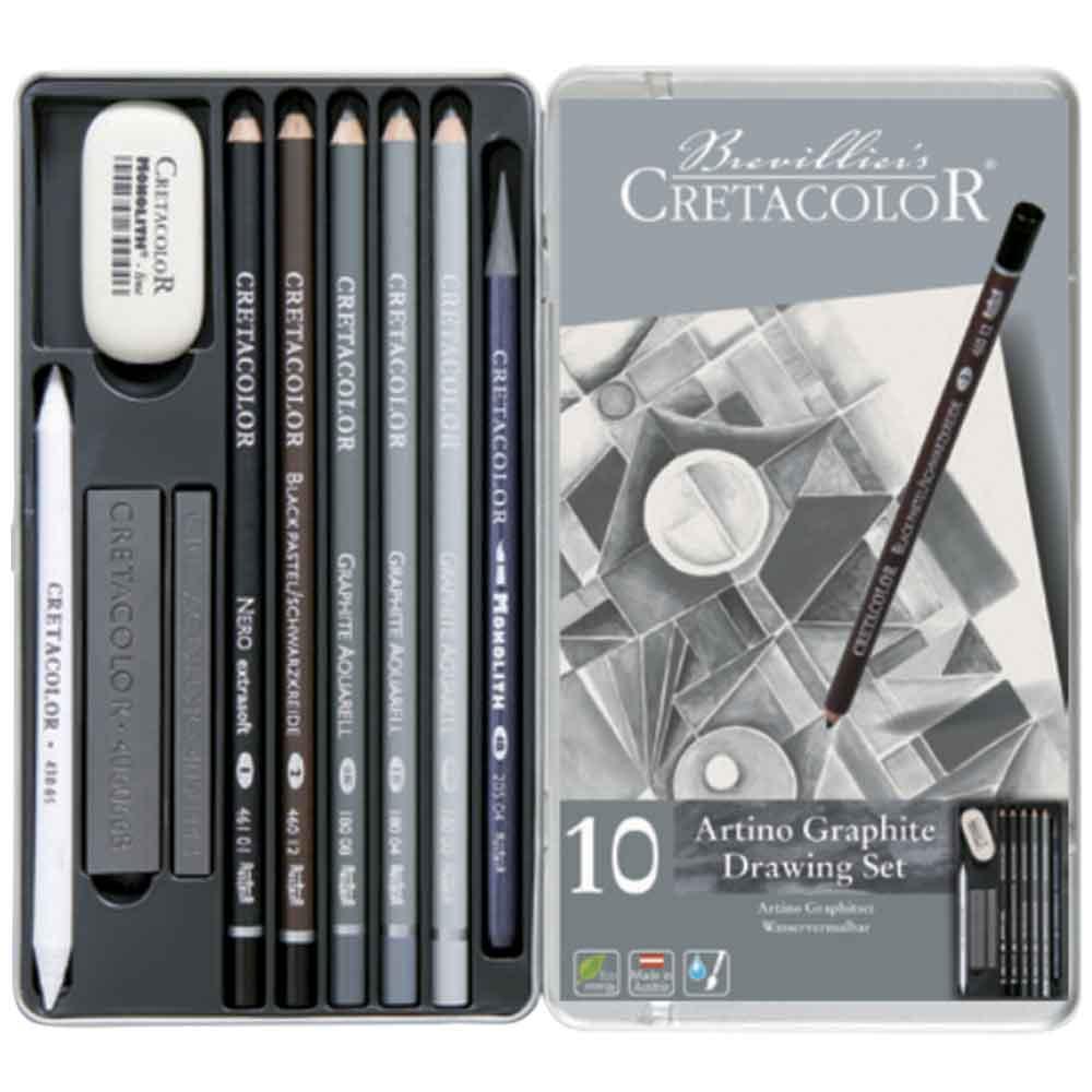Estojo para desenho 10 peças Artino Graphite 400 21 - Cretacolor