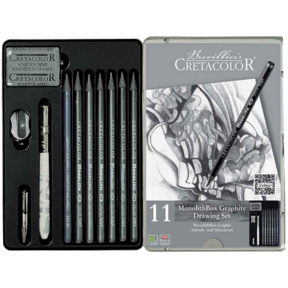 Estojo para desenho 11 peças Graphite 204 30 - Cretacolor