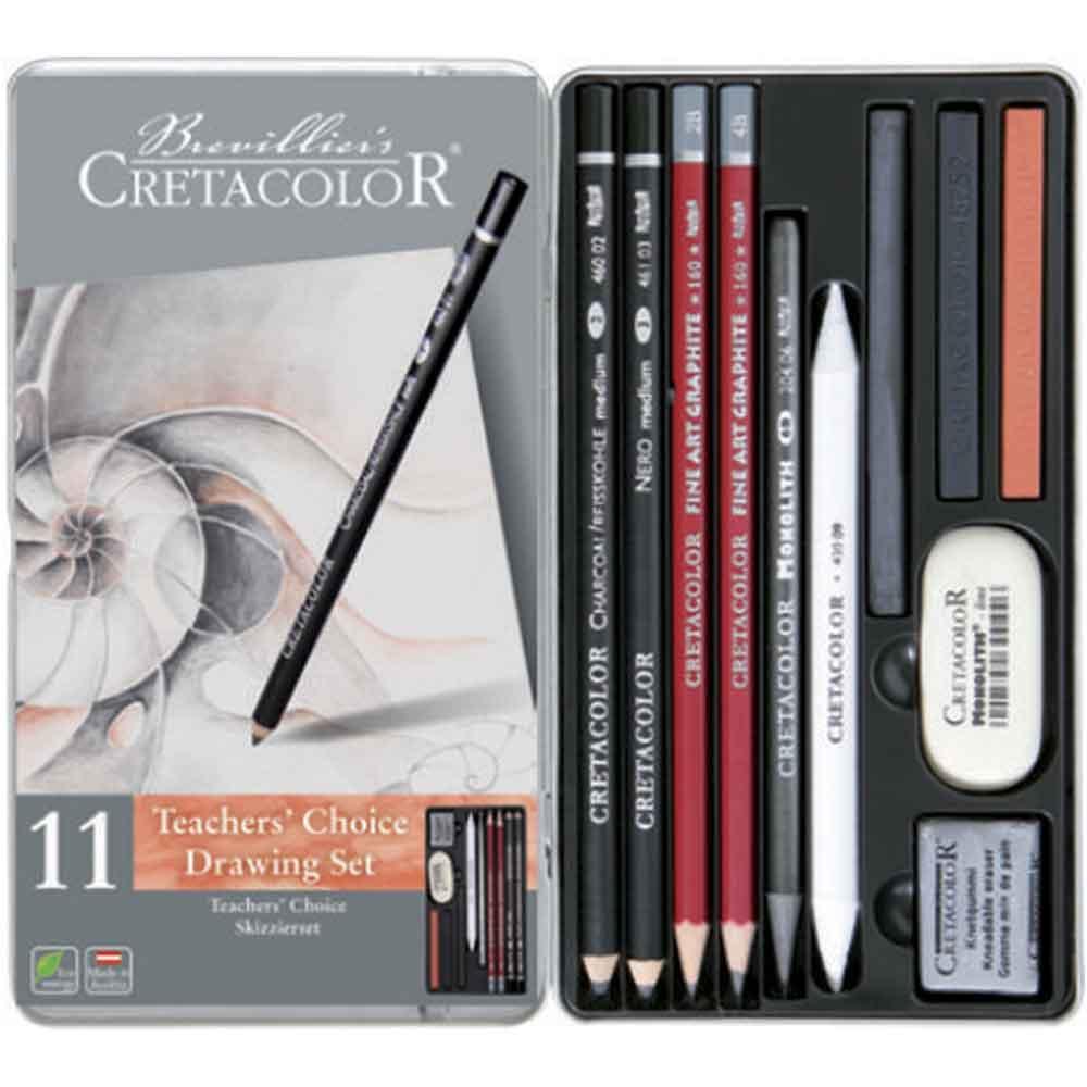 Estojo para desenho 11 peças Teacher's Choice 400 33 - Cretacolor