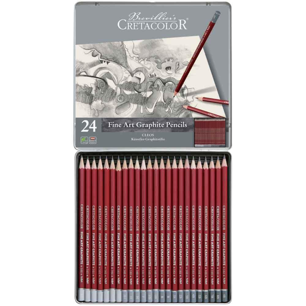 Estojo para desenho 24 peças Cleos 160 24 - Cretacolor
