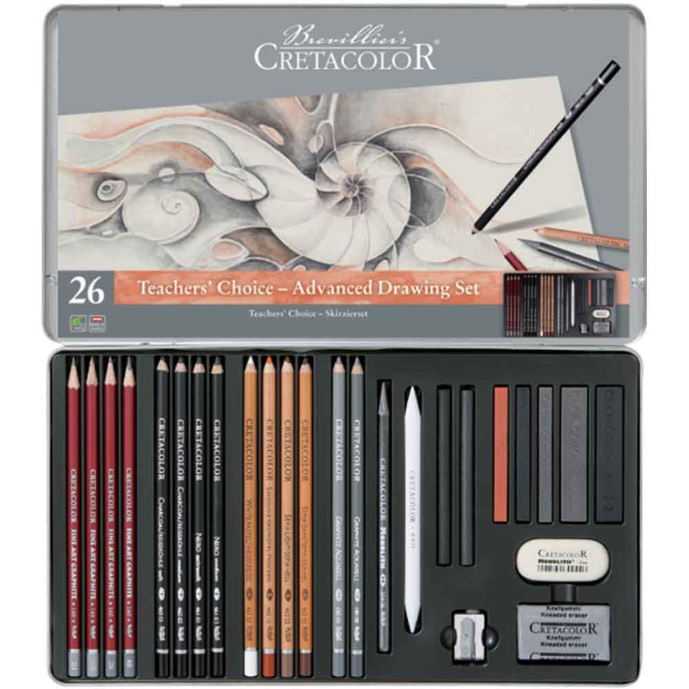 Estojo para desenho 26 peças Teacher's Choice 400 42 - Cretacolor