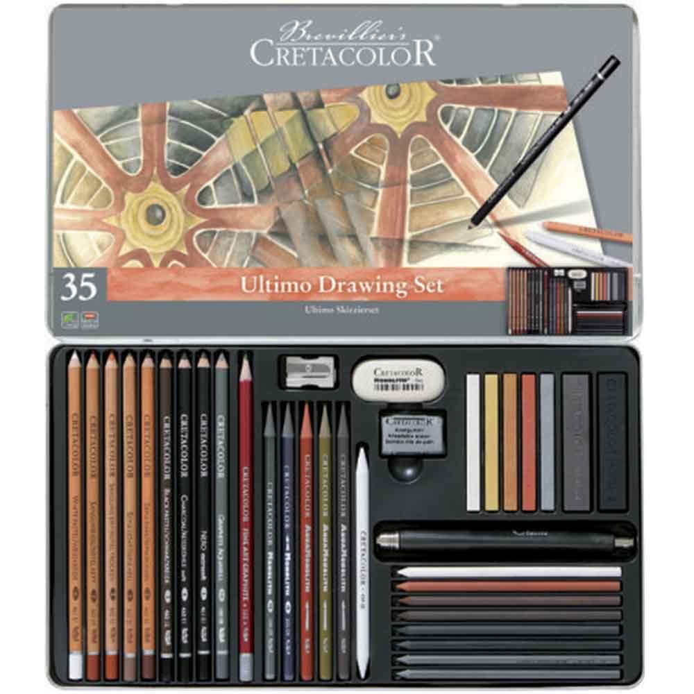 Estojo para desenho 35 peças Ultimo 400 57 - Cretacolor