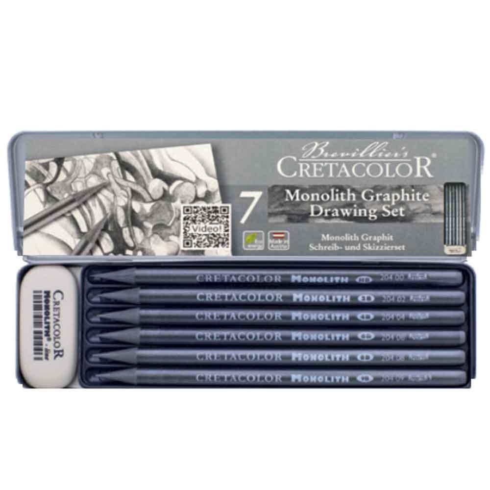 Estojo para desenho 7 peças Graphite 204 26 - Cretacolor