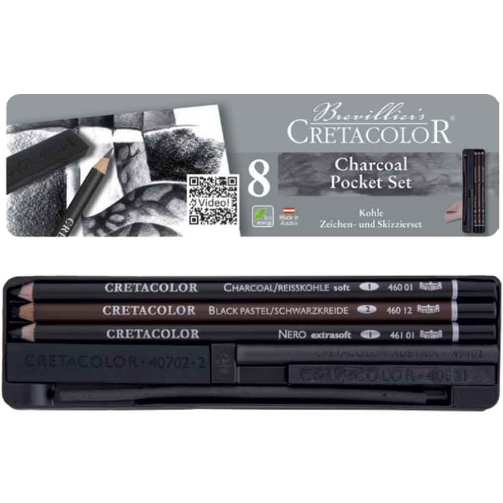 Estojo para desenho 8 peças 460 08 - Cretacolor
