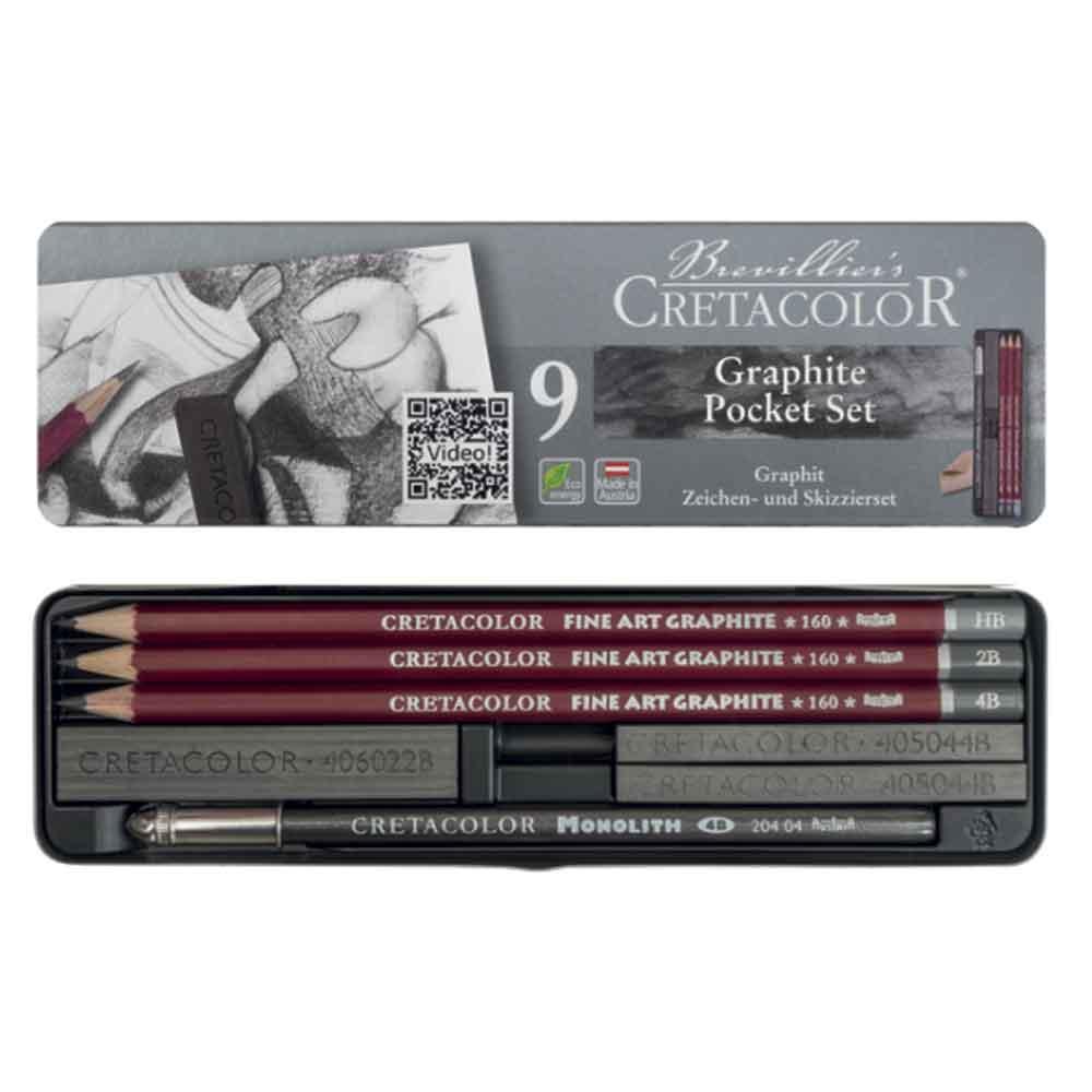 Estojo para desenho 9 peças 160 29 - Cretacolor