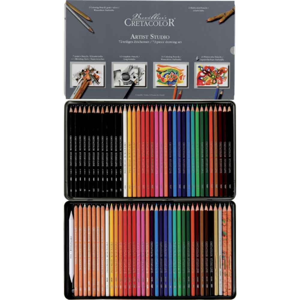 Estojo para desenho com 72 peças 464 72 - Cretacolor