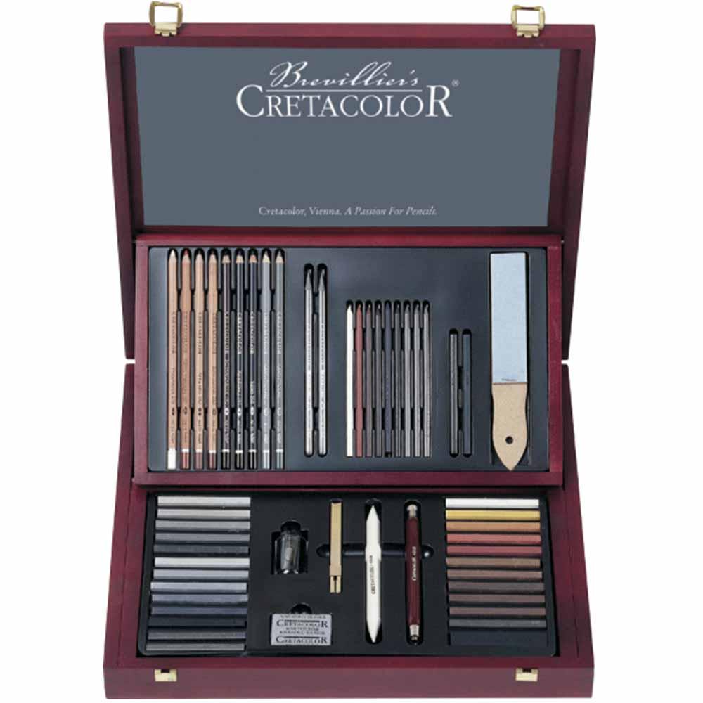 Estojo para desenho Profissional 53 peças 400 60 - Cretacolor