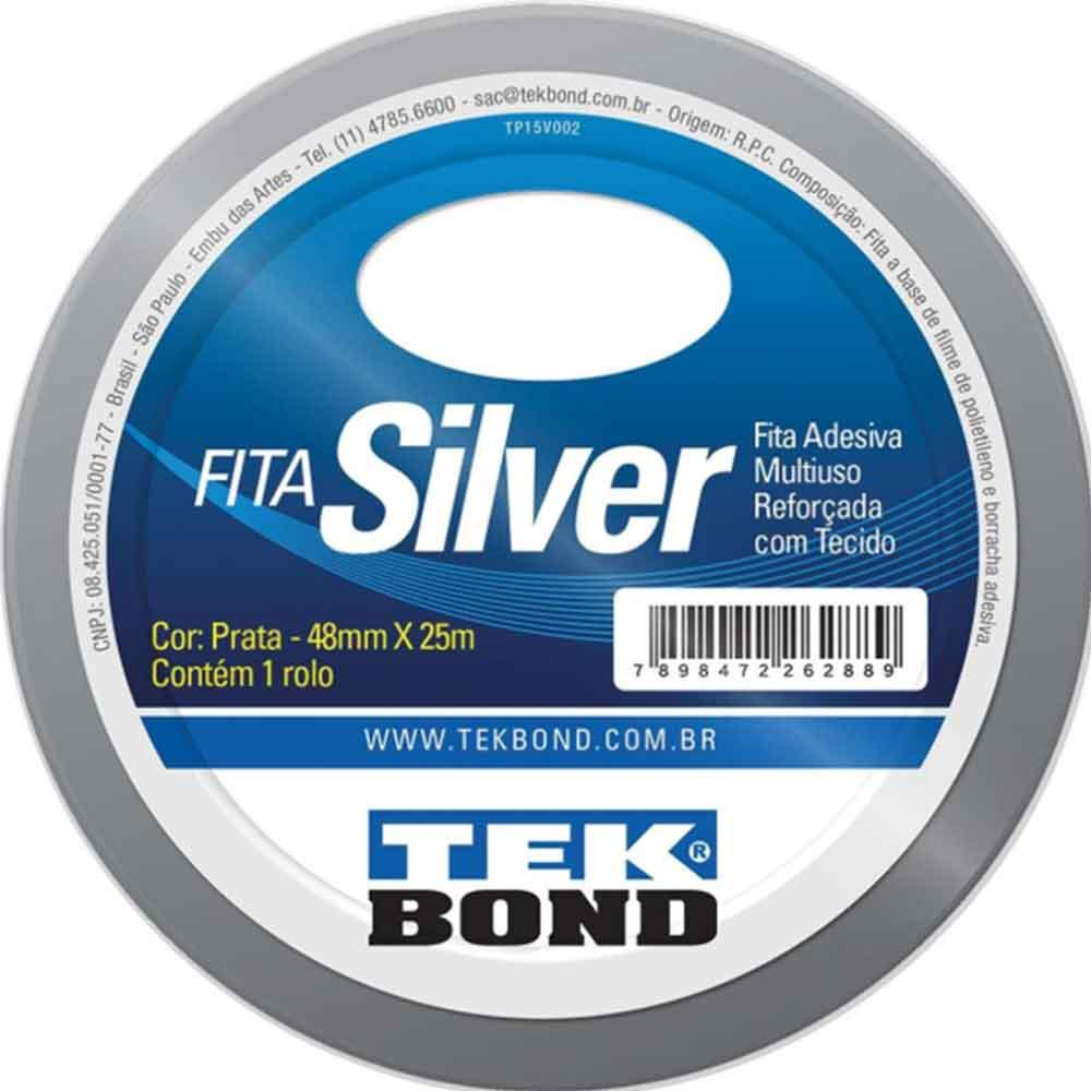 Fita Silver Prata 48x25m - Tekbond