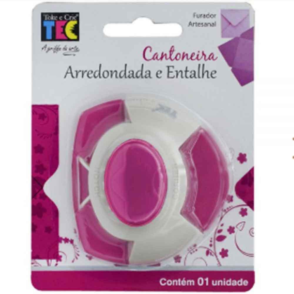 Furador Cantoneira Arredondada  - Toke e Crie