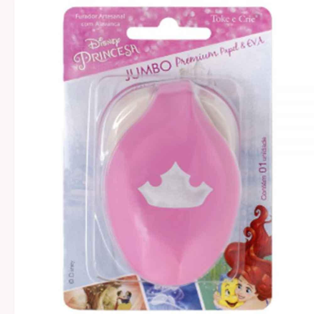 Furador Jumbo Alavanca Premium Princesas - Toke e Crie