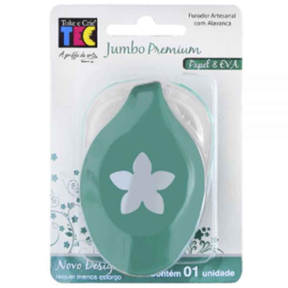 Furador Jumbo Premium Flor 5 Pontas - Toke e Crie