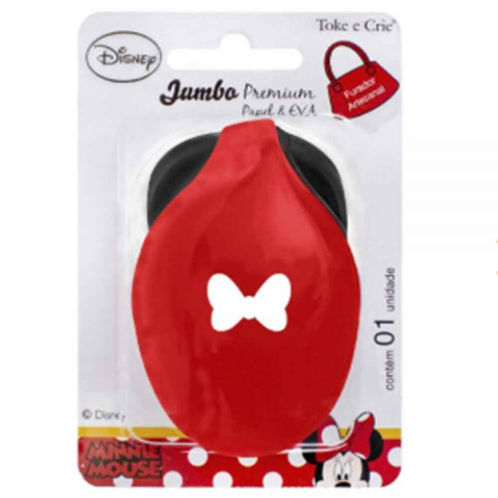 Furador Jumbo Premium Laço Minnie Mouse - Toke e Crie