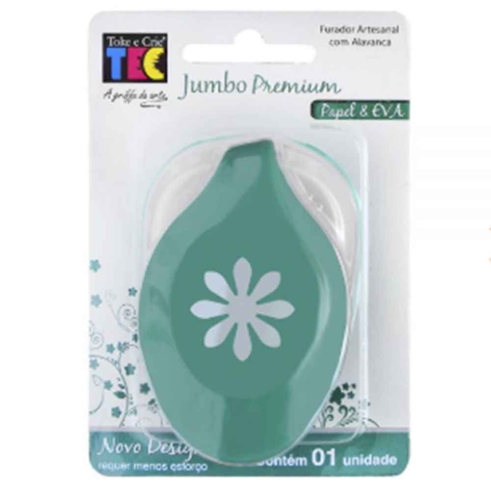 Furador Jumbo Premium Margarida - Toke e Crie