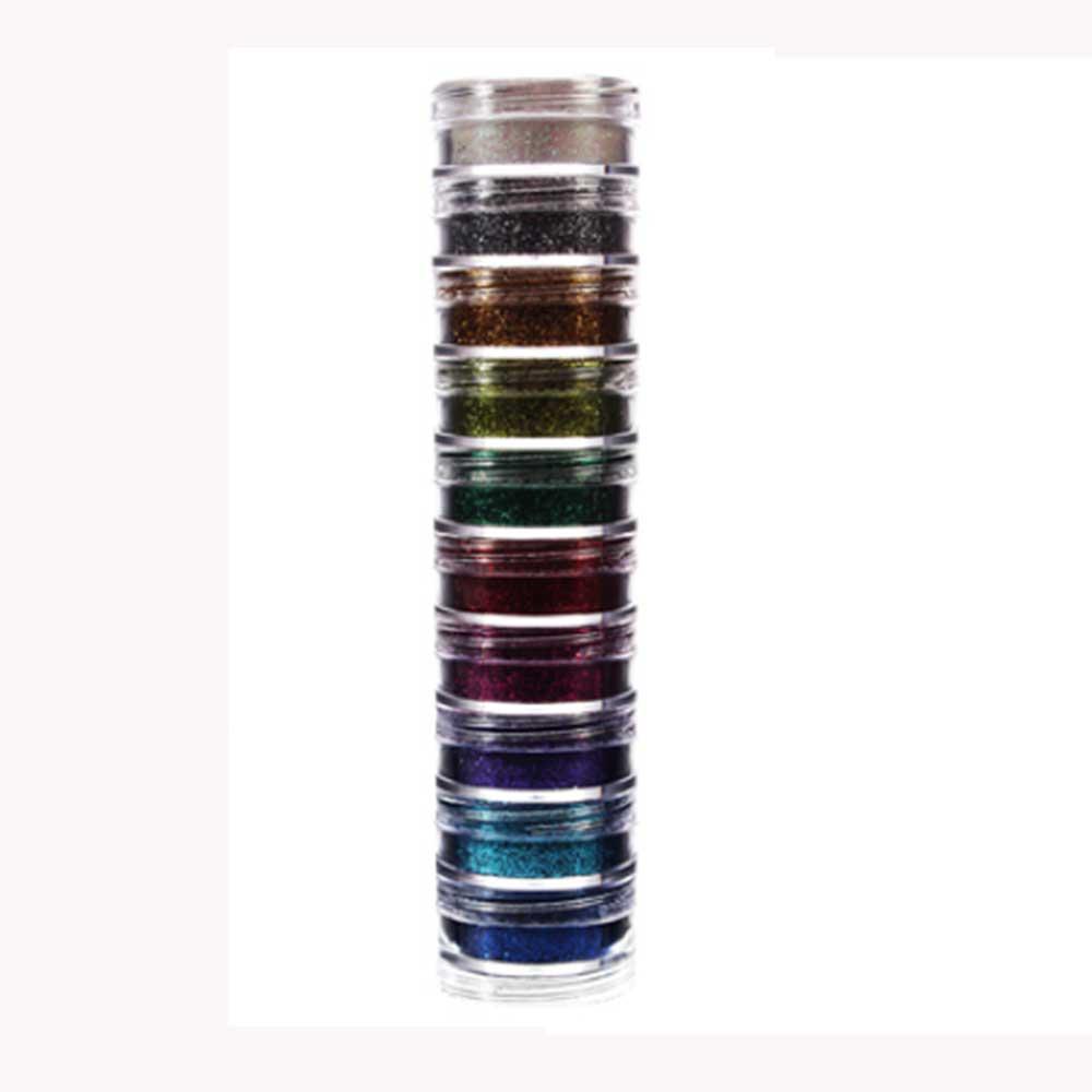 Kit Glitter Pó 10 cores ref. 2702 - Colormake
