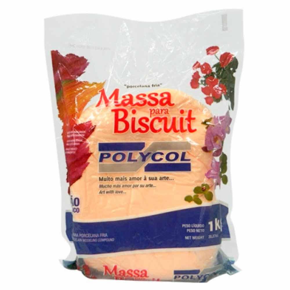 Massa para biscuit 1kg Pele - Polycol