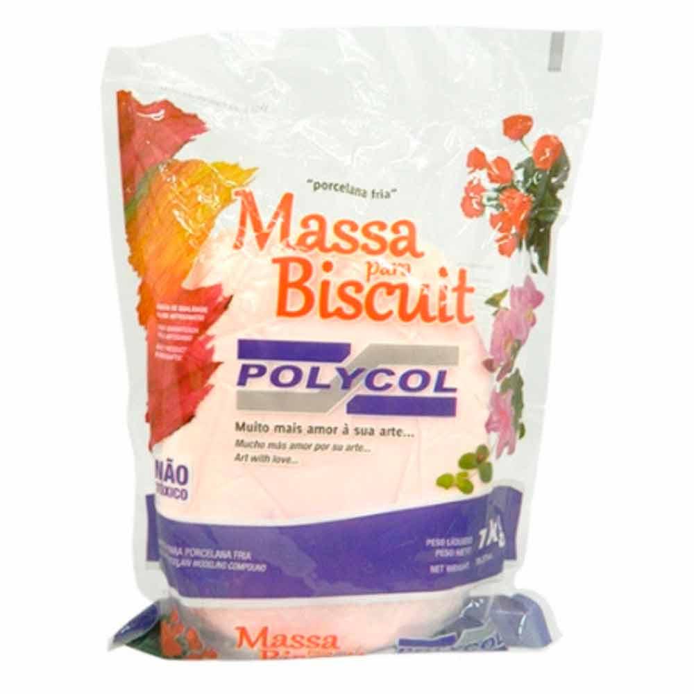 Massa para biscuit 1kg Rosa Ternurinha - Polycol