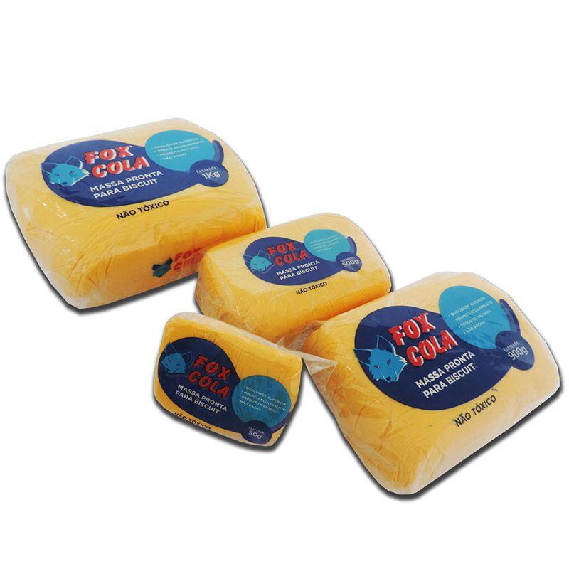 Massa para biscuit 900g Amarelo Cadmio - Fox