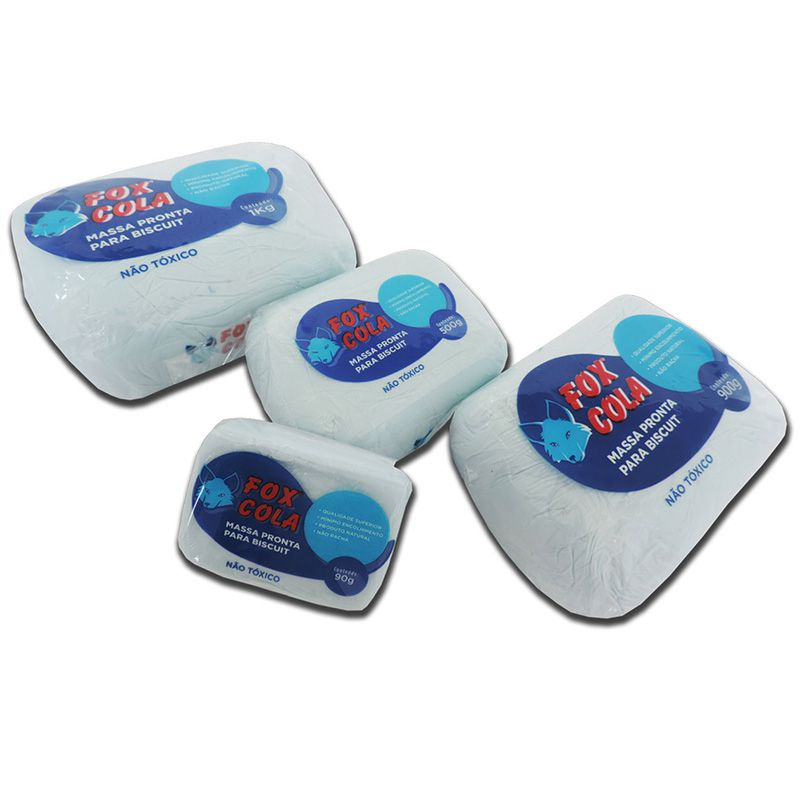 Massa para biscuit 900g Azul Bebê - Fox