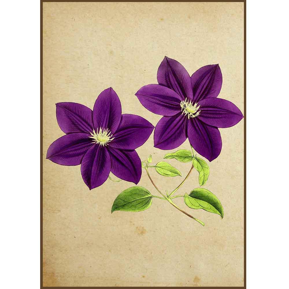 Quadro decorativo Flores em canvas - AGFL005