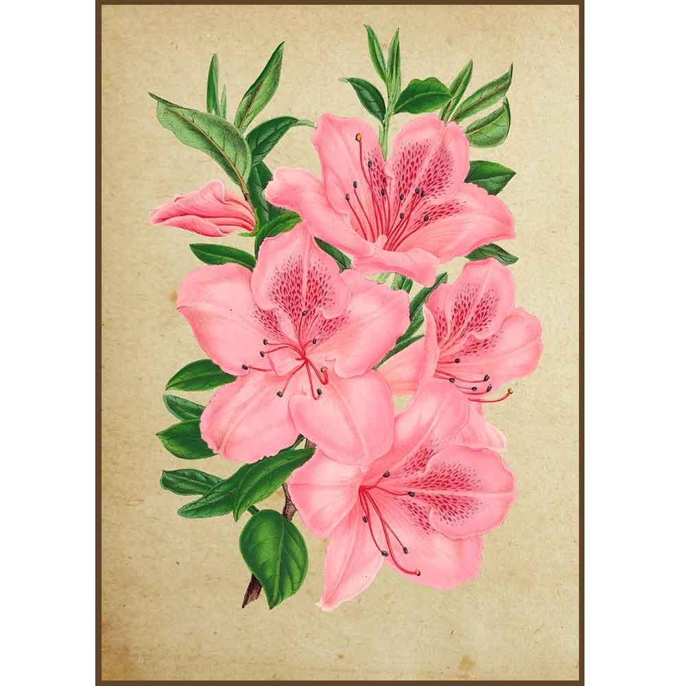 Quadro decorativo Flores em canvas - AGFL006