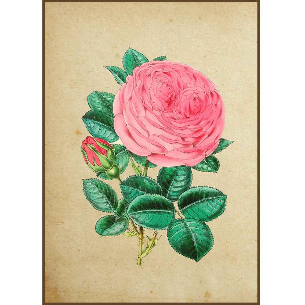 Quadro decorativo Flores em canvas - AGFL015
