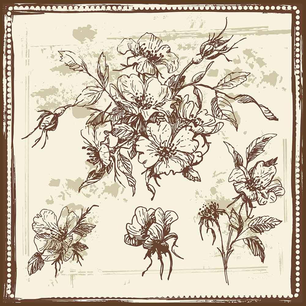 Quadro decorativo Flores em canvas - AGFL041