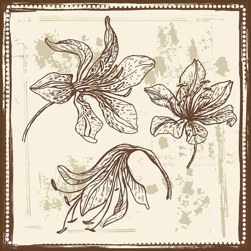 Quadro decorativo Flores em canvas - AGFL042