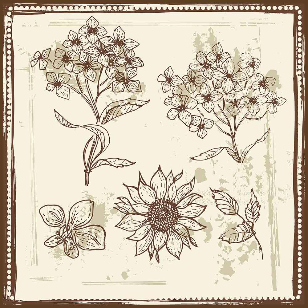 Quadro decorativo Flores em canvas - AGFL043
