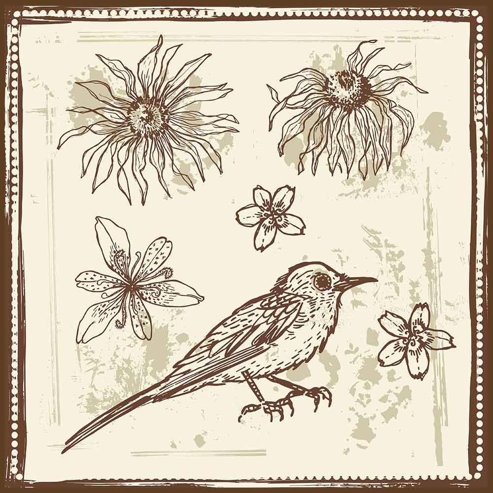Quadro decorativo Flores em canvas - AGFL050