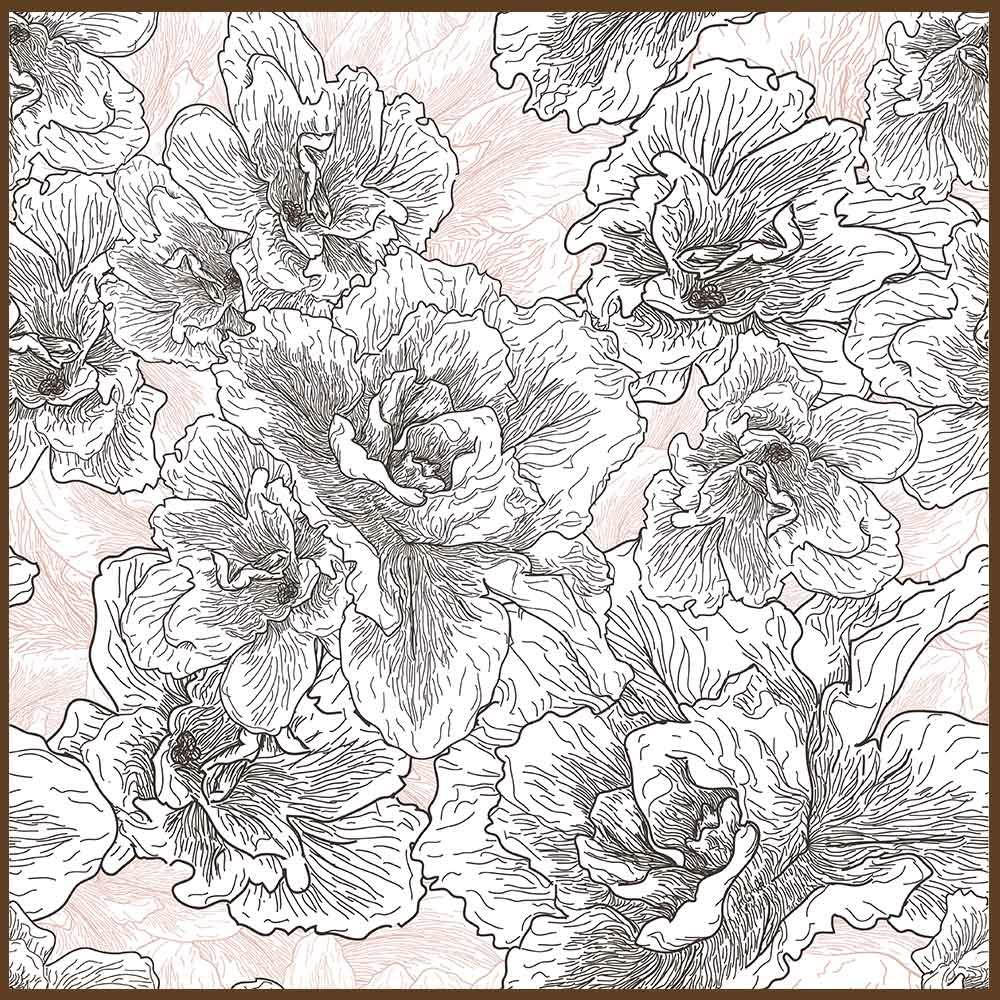 Quadro decorativo Flores em canvas - AGFL054