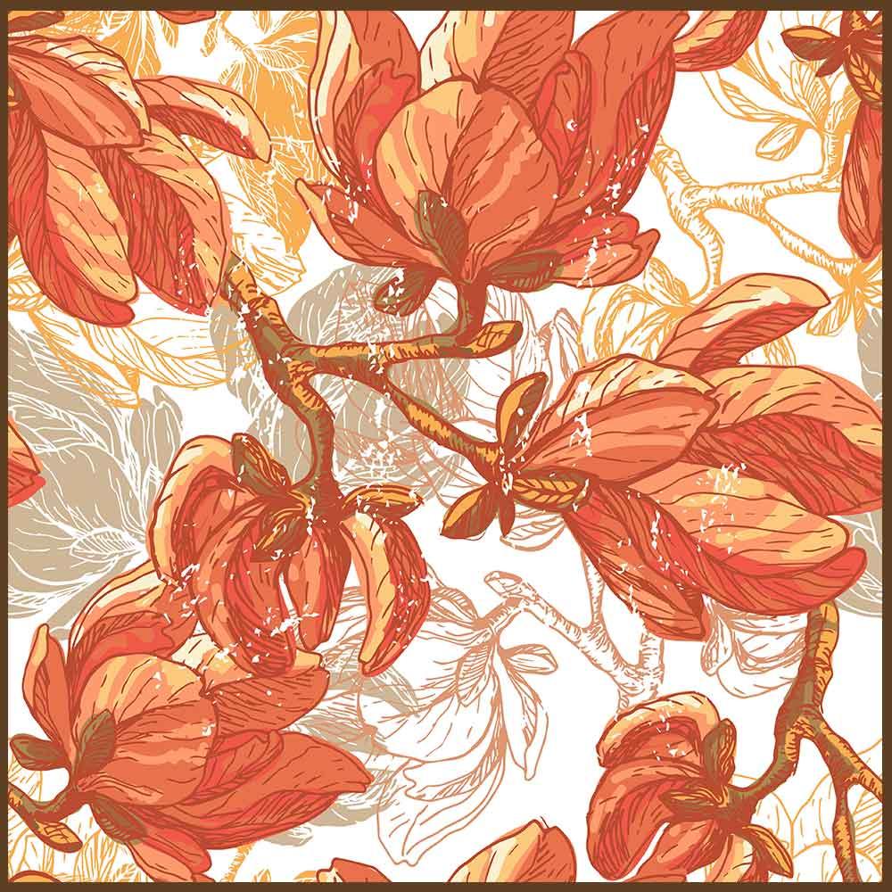 Quadro decorativo Flores em canvas - AGFL064