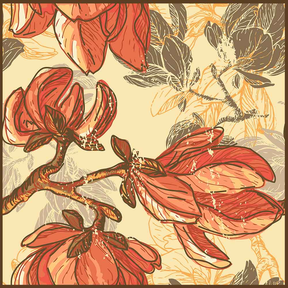 Quadro decorativo Flores em canvas - AGFL065