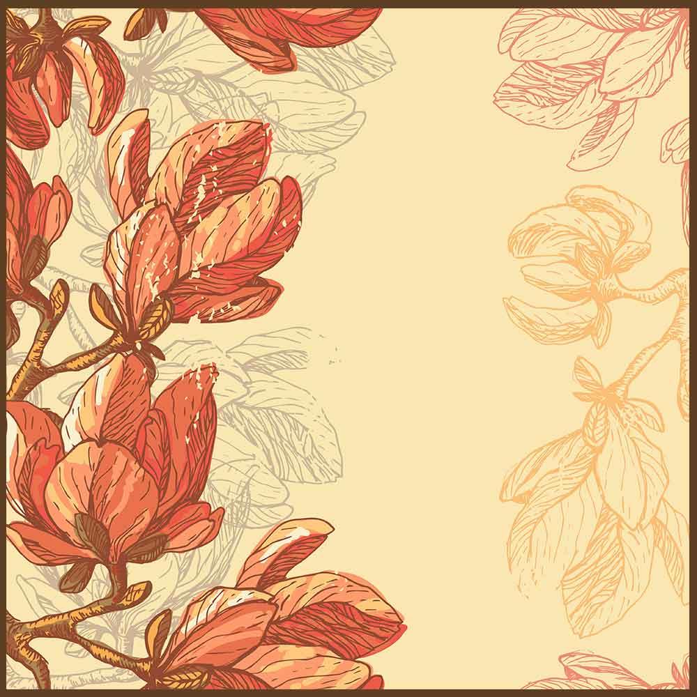 Quadro decorativo Flores em canvas - AGFL066