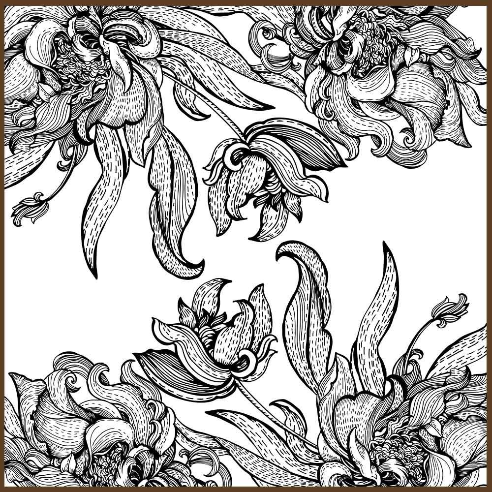 Quadro decorativo Flores em canvas - AGFL072