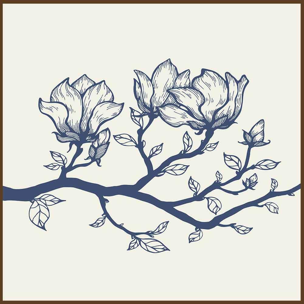 Quadro decorativo Flores em canvas - AGFL073