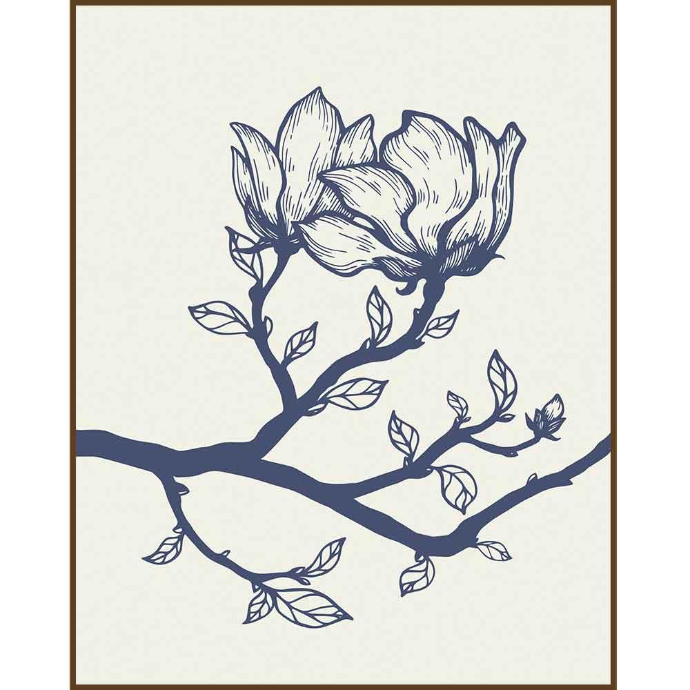 Quadro decorativo Flores em canvas - AGFL074