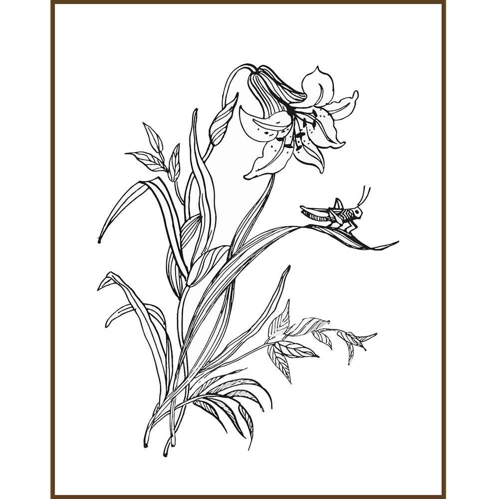 Quadro decorativo Flores em canvas - AGFL076