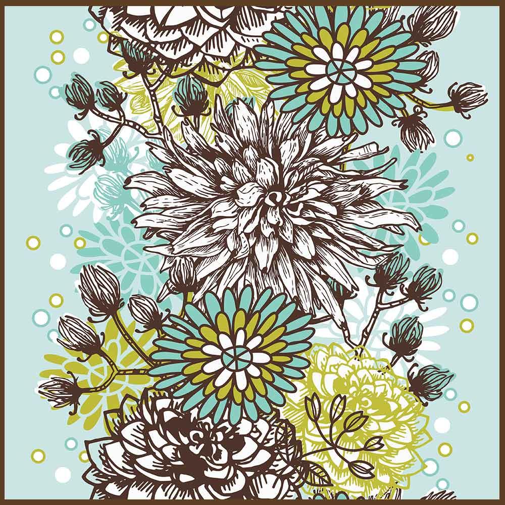 Quadro decorativo Flores em canvas - AGFL079