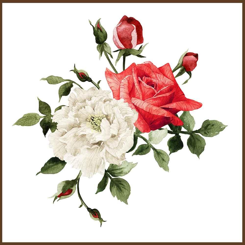 Quadro decorativo Flores em canvas - AGFL087