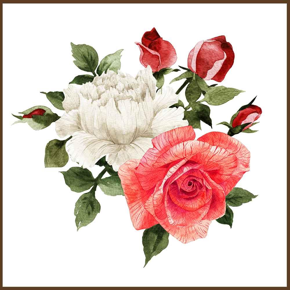 Quadro decorativo Flores em canvas - AGFL088