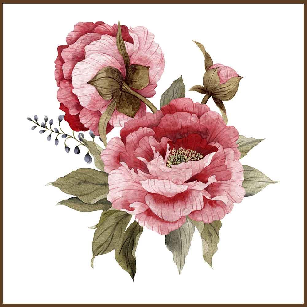 Quadro decorativo Flores em canvas - AGFL089