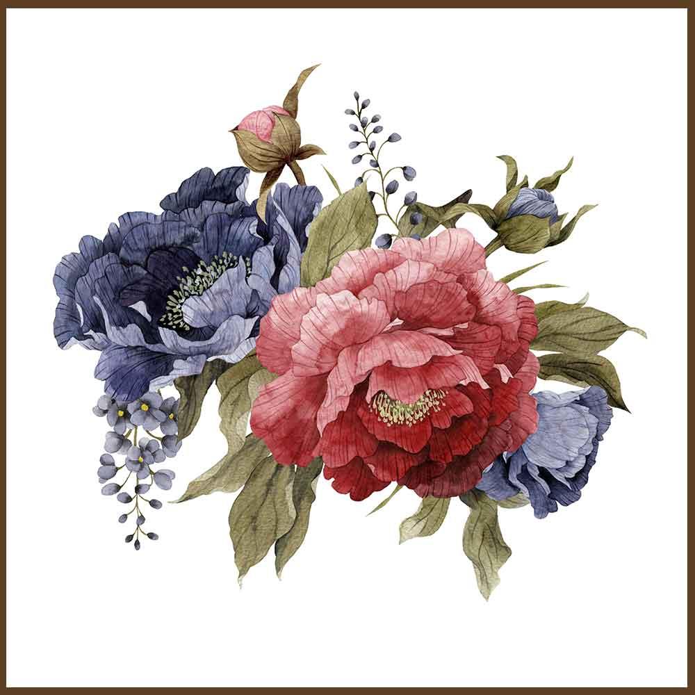 Quadro decorativo Flores em canvas - AGFL090