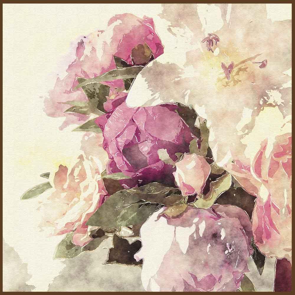 Quadro decorativo Flores em canvas - AGFL093