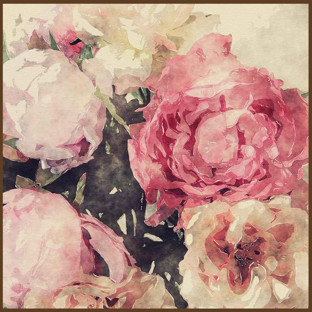 Quadro decorativo Flores em canvas - AGFL094