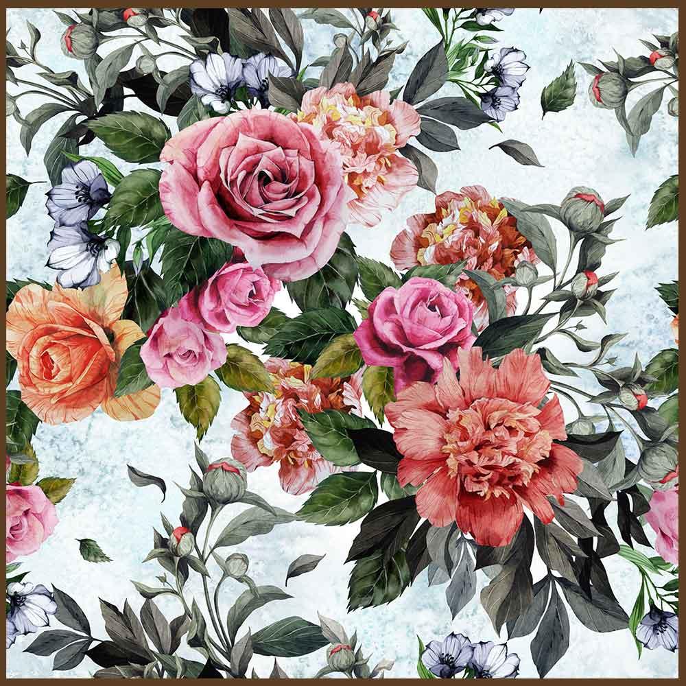 Quadro decorativo Flores em canvas - AGFL096