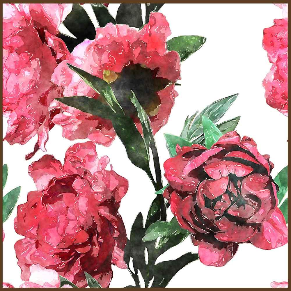 Quadro decorativo Flores em canvas - AGFL103